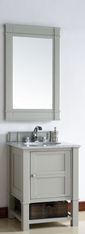 "Madison 26"" Dove Gray Single 2CM Top Vanity Set"