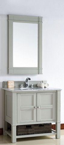 "Madison 36"" Dove Gray Single 2CM Top Vanity Set"