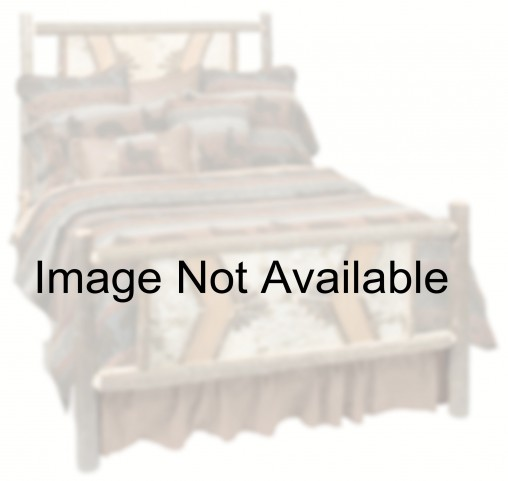 Hickory Queen Adirondack Bed with Espresso Rails