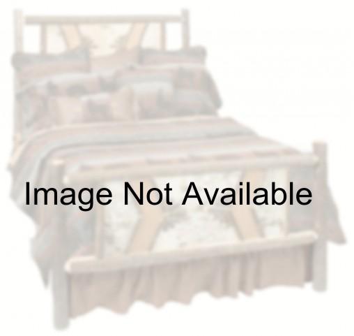 Hickory Twin Adirondack Platform Bed With Espresso Rails
