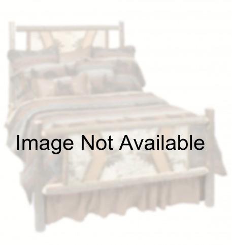 Hickory Cal. King Adirondack Platform Bed With Rustic Alder Rails