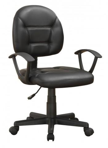 800178 Grey Leather Swivel Chair