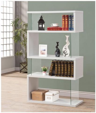 800300 White Bookshelf