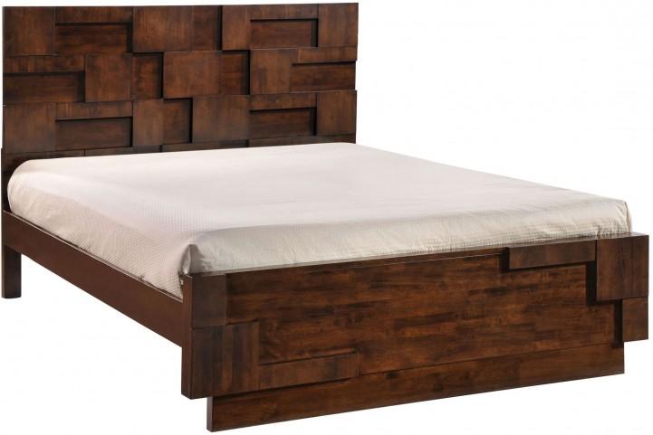 San Diego Walnut Queen Panel Bed