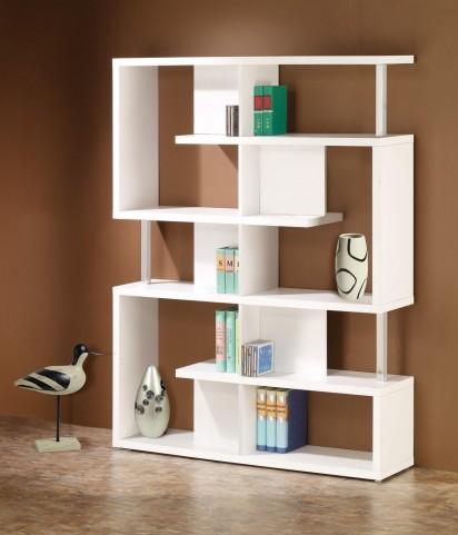White Bookcase 800310