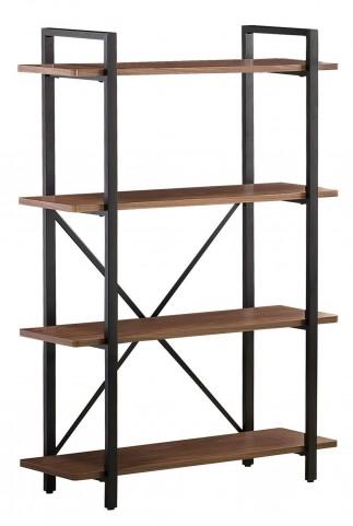 800336 Light Brown Metal Frame Bookcase
