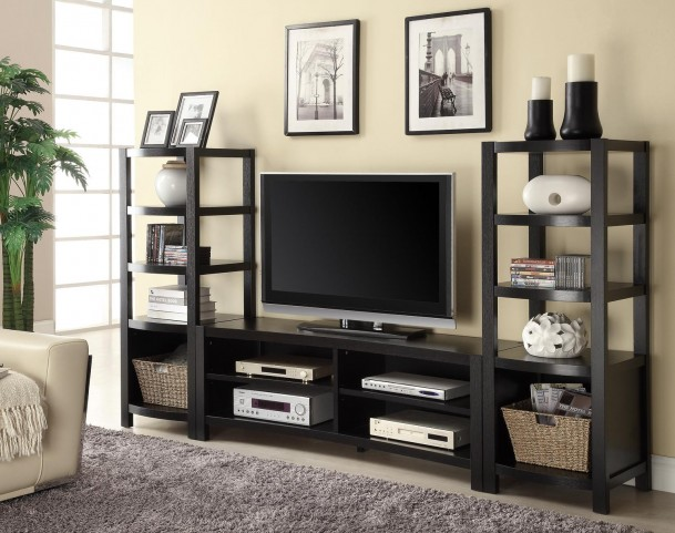 Brown Entertainment Wall