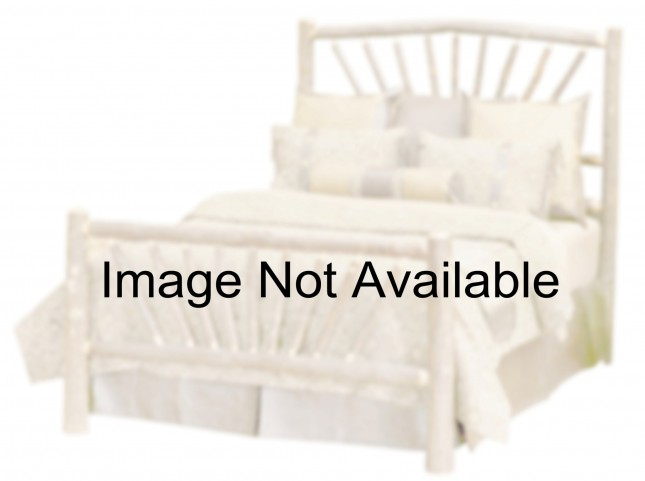 Hickory Cal. King Sunburst Platform Bed With Espresso Rails
