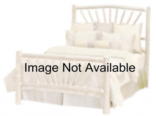 Hickory Queen Sunburst Platform Bed With Espresso Rails