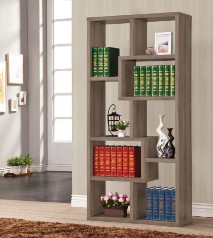 800510 Weathered Grey Bookcase