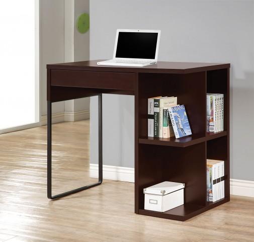 Cappuccino/Black Standing Desk