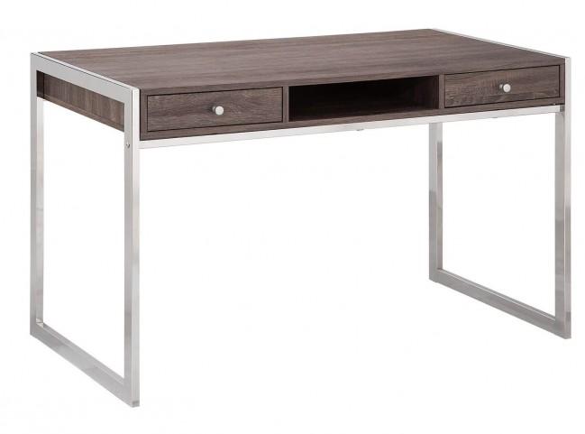 801221 Weathered Grey Chrome Desk