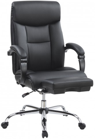 Black Leatherette High Back Office Chair