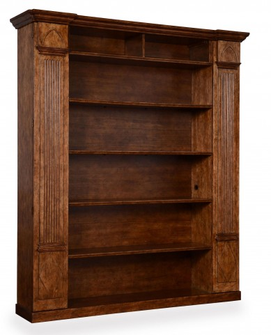The Foundry Chestnut Biblioteque Bookcase Wall