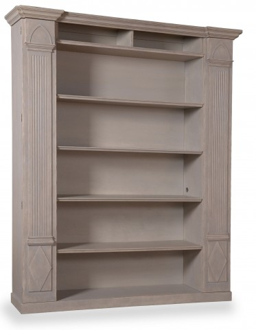 The Foundry Antique Grey Biblioteque Bookcase Wall