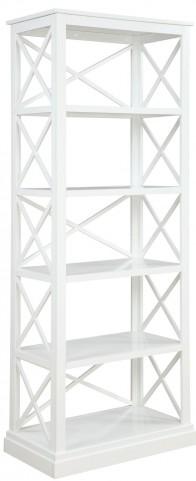 Johansson Antique White Bookcase by Donny Osmond
