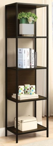 "20"" Black and Dark Brown Bookcase"