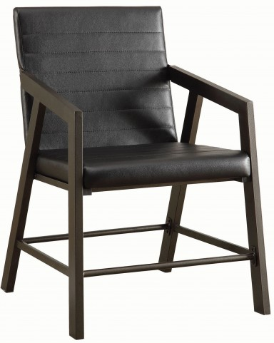 Chestnut and Gunmetal Chair