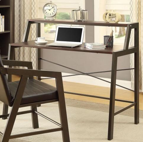 Chestnut and Gunmetal Desk