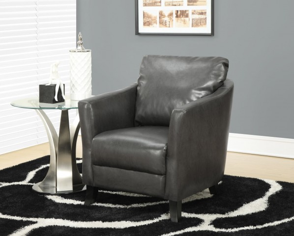 Charcoal gray Accent Chair