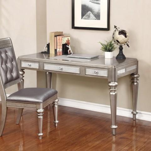 Bling Game Metallic Platinum Writing Desk