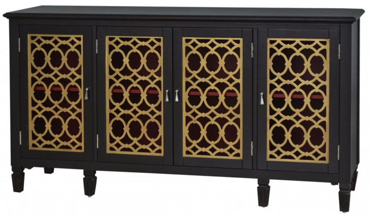 806046 Gold Leaf Console