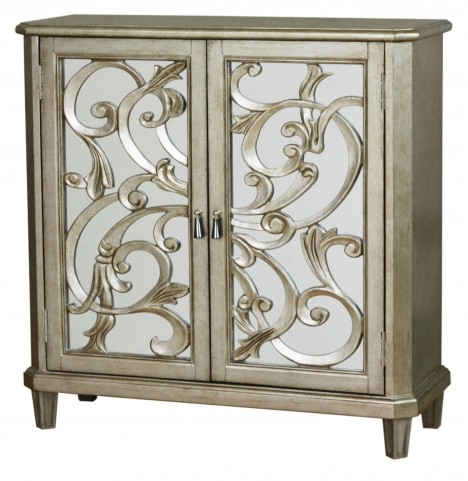 Scrolled Pewter Door Console