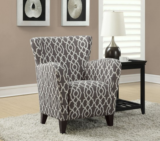 gray/Beige Wave Fabric Club Chair