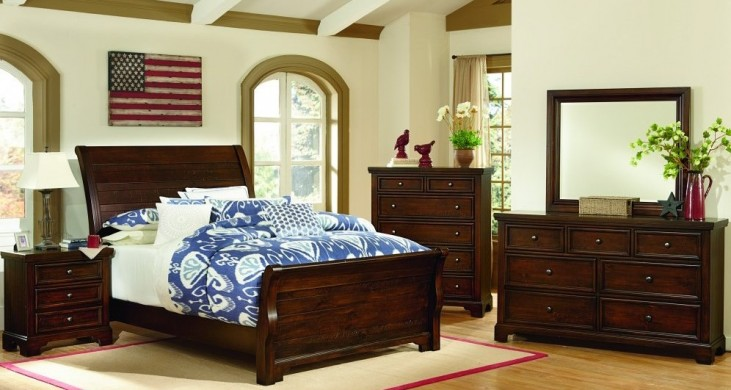 Hanover Dark Cherry Sleigh Bedroom Set