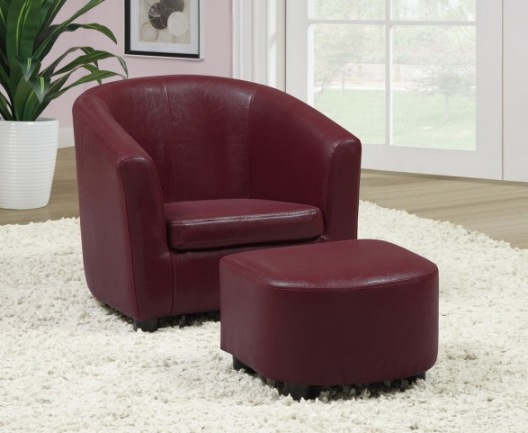8105 Red Juvenile Chair and Ottoman