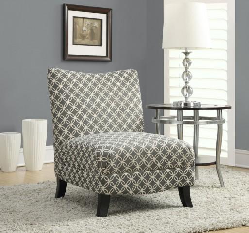 gray Circular Fabric Accent Chair