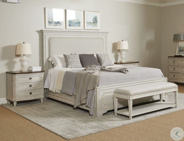 Hillside Feather Upholstered Panel Bedroom Set From Stanley