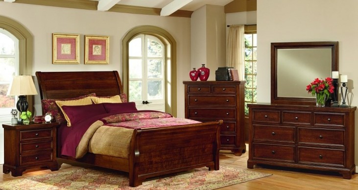 Hanover Cherry Youth Sleigh Bedroom Set