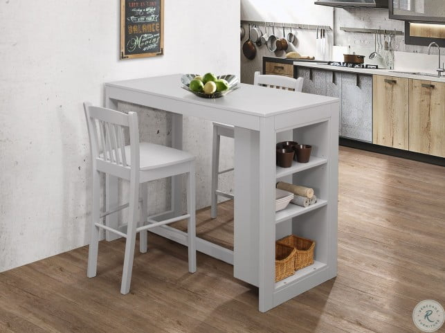 Surprising Tribeca Ash Grey Counter Height Dining Table Caraccident5 Cool Chair Designs And Ideas Caraccident5Info