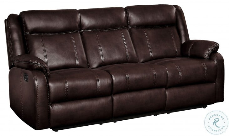 Jude Brown Double Reclining Sofa