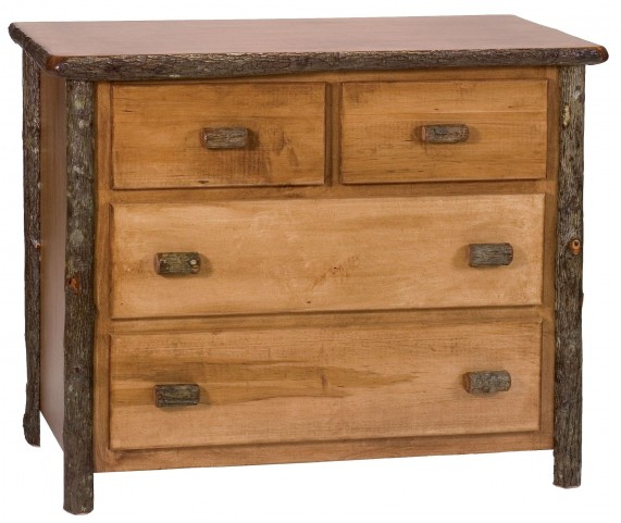 Hickory Rustic Maple Value Four Drawer Low Boy