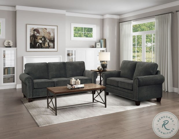 Cornelia Dark Grey Loveseat