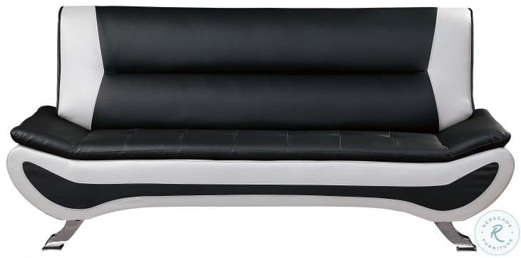 Veloce Black and Ivory Sofa
