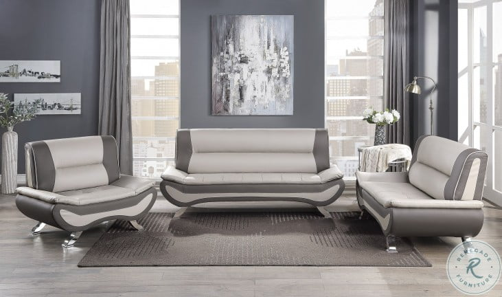 Veloce Beige And Gray Chair