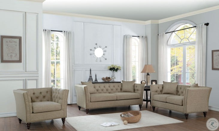 Marceau Tan Living Room Set