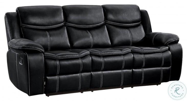 Bastrop Black Double Reclining Sofa