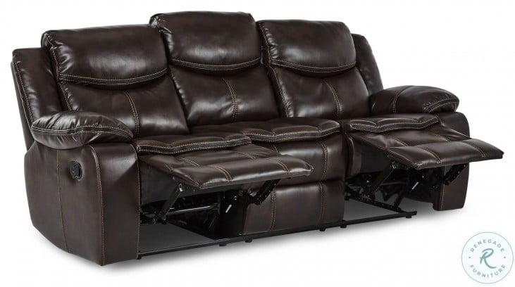 Bastrop Dark Brown Reclining Sofa