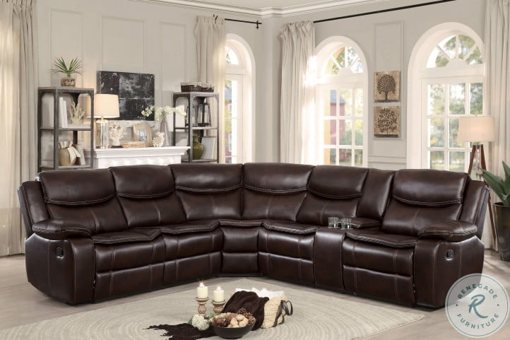 Bastrop Dark Brown Reclining LAF Sectional