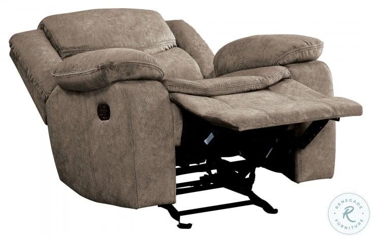 Bastrop Brown Glider Reclining Chair