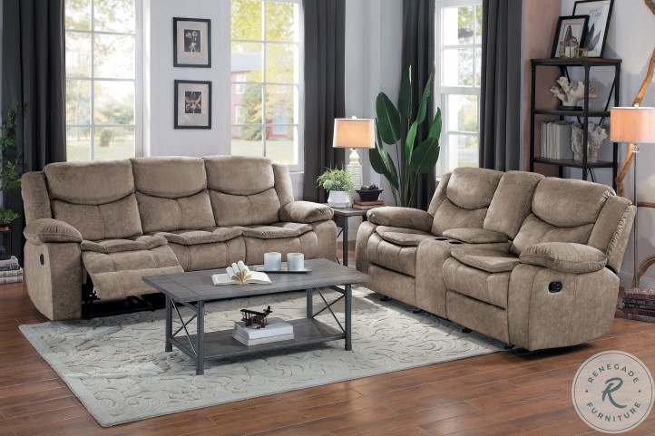 Bastrop Brown Double Reclining Living Room Set