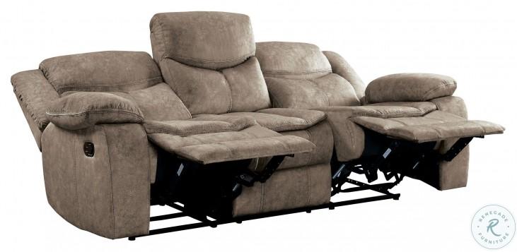 Bastrop Brown Double Reclining Sofa