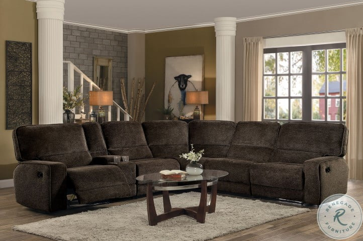Shreveport Brown 6 Piece Sectional