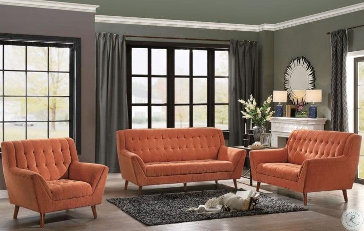 Erath Orange Living Room Set
