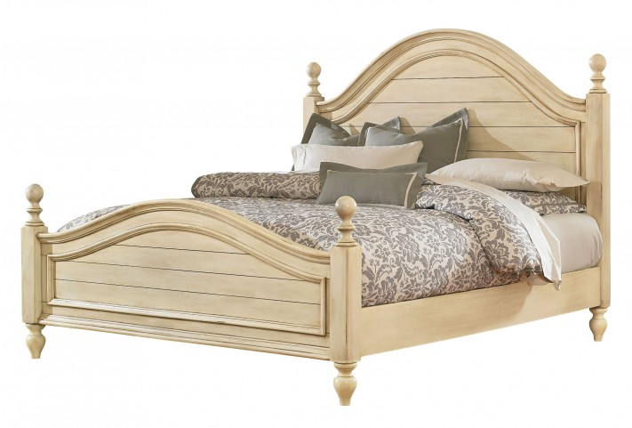 Chateau Antique French Bisque Queen Poster Bed