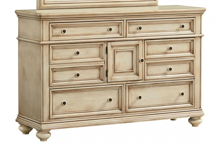 Chateau Antique French Bisque Dresser